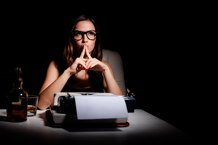 writer thinking