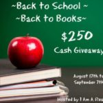 Back to School $250 Cash Giveaway!!