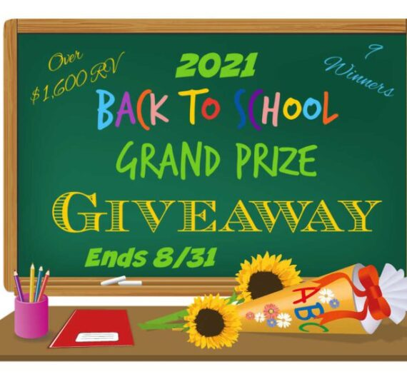 2021 Back to School Giveaway